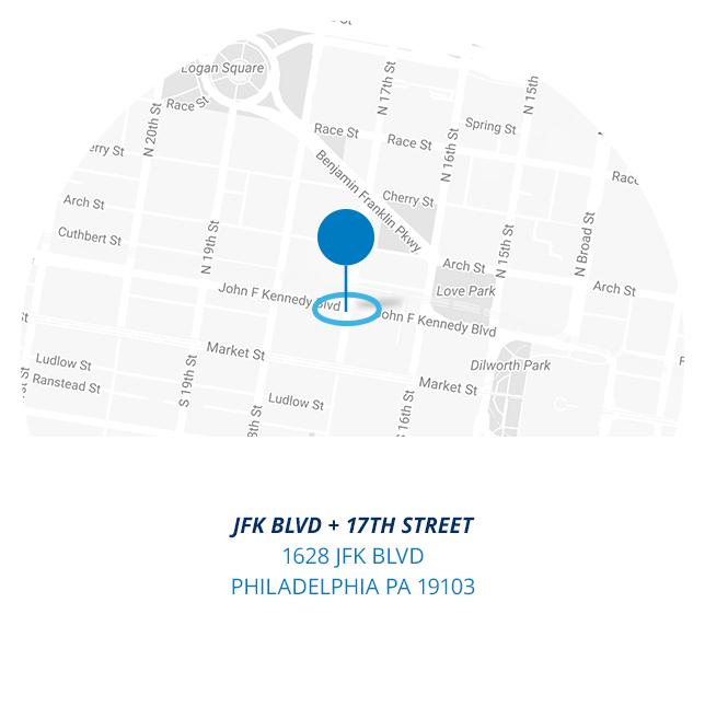 JFK BLVD and17th street  1628 JFK BLVD Philadelphia PA 19103