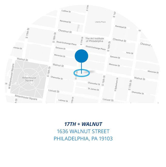 17th and Walnut 1636 Walnut Street Philadelphia PA 19103